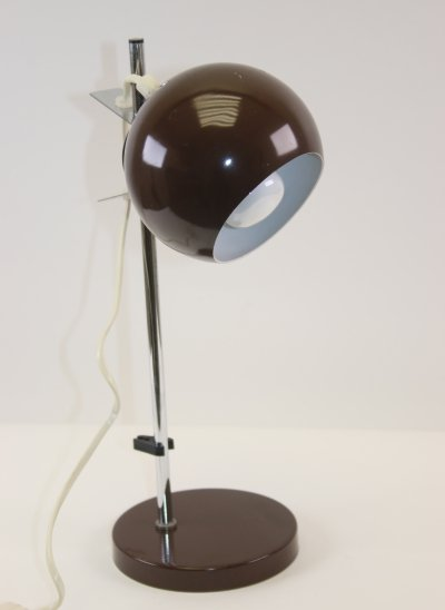 Brown Sphere Magnet Desk Lamp by Hamalux