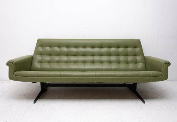 Mid century Czechoslovak sofa in leatherette, 1970s