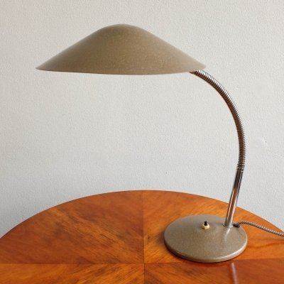 Goose neck table lamp by Instala Děčín, 1950s