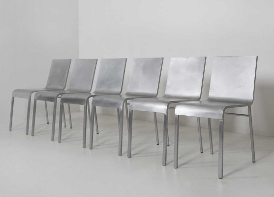 Set of 6 chairs CN°II by Maarten Van Severen for Top Mouton, 1992