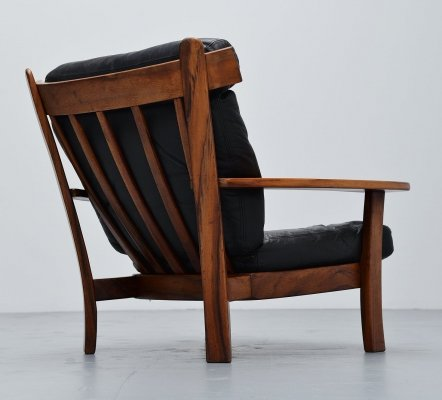 Brazilian Ox lounge chair in rosewood & leather, 1960