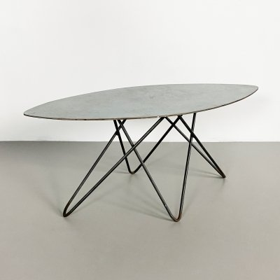 Small Metal Postmodern Side Table, Germany c.1980