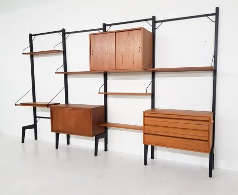 Poul Cadovius for Royal System teak wall unit, Denmark 1950's