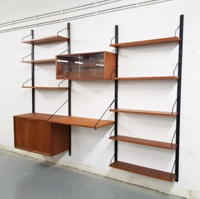 Poul Cadovius for Royal System teak book shelves, Denmark 1950's
