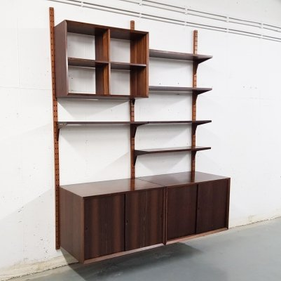 Poul Cadovius for CADO rosewood wall unit, Denmark 1960's