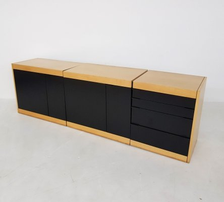 Pastoe L-series credenza lowboard in birch, The Netherlands 1980's