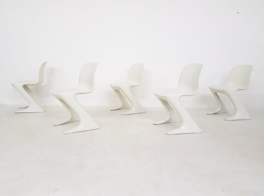 Set of 5 Kangaroo Z- Dining chairs by Ernst Moeckl for Horn Collection Baydur