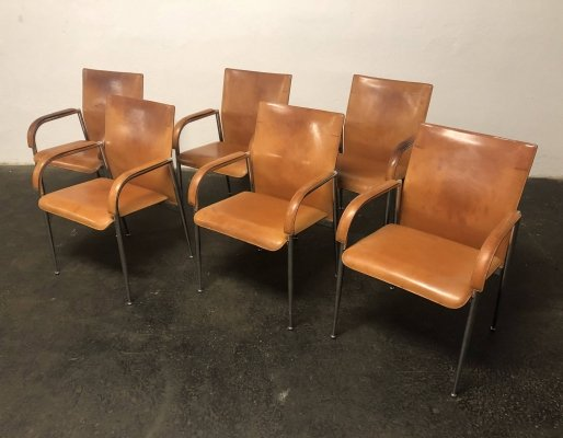 Set of 6 dining chairs by Andrea Branzi for Fasem, 1980s