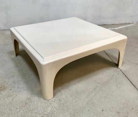 Early Fiberglass Plastic Side or Low Coffee Table, Germany 1960s