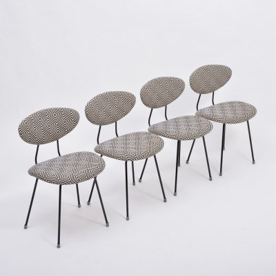 Set of 4 Mid-Century Modern dining chairs by Rudolf Wolf