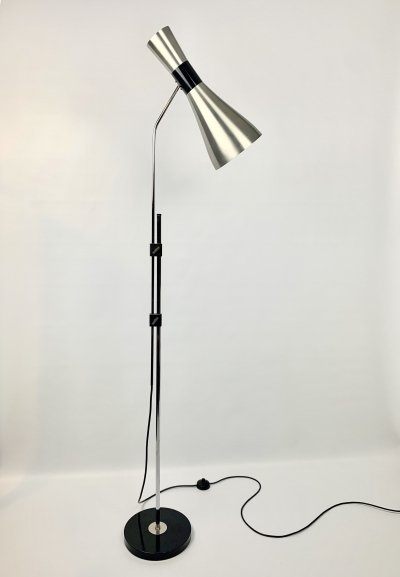 Iconic floor lamp Diabolo by Jo Hammerborg for Fog & Mørup, Denmark 1965