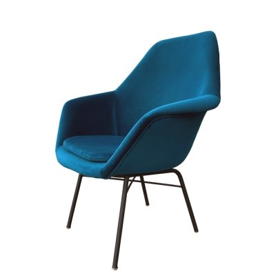 Sea color fiberglass armchair by Miroslav Navratil for Vertex, Czechoslovakia 1960s