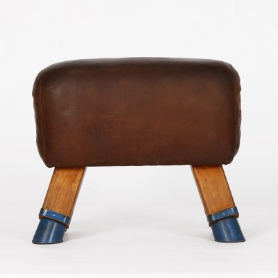 Vintage Czech Turnbock Gym Stool Bench, 1930s