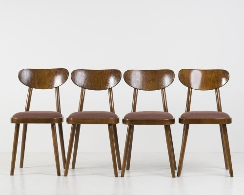 Set of 4 Dining Chairs from TON, 1960's