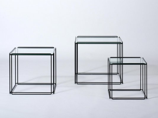 Set of 3 Isocele nesting tables by Max Sauze for Atrow, 1980s