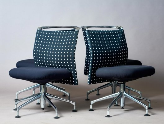 Set of 4 AC2 office chairs by Antonio Citterio for Vitra, 1990s