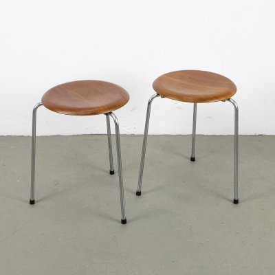 Teak Dot Stool by Arne Jacobsen for Fritz Hansen, 1964