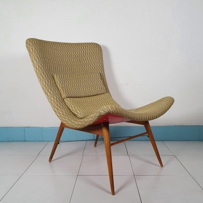 Glassfibre lounge chair by Miroslav Navratil, 1959