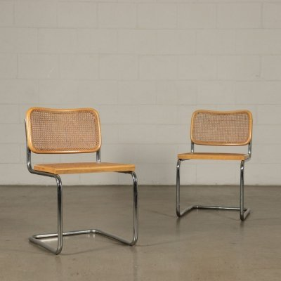 Pair of Cesca Chairs by Marcel Breuer for Gavina, 1970s