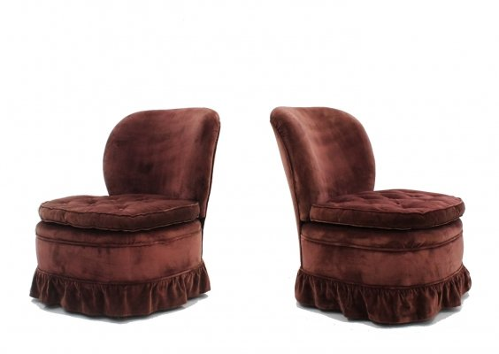 Pair of Melchiorre Bega armchairs, 1940s