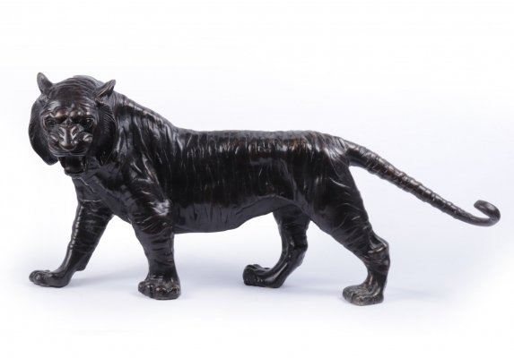 Bronze Tiger Sculpture, c1950