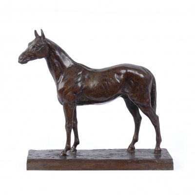 Bronze Horse Sculpture by Rene Papa, c1930