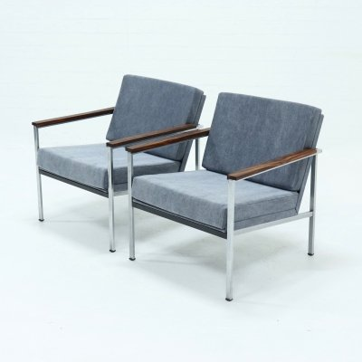 Set of 2 Gispen 1453 Armchairs by Coen de Vries, 1960s