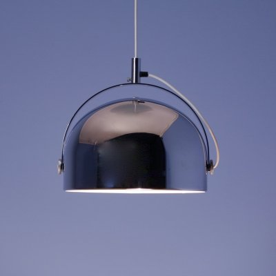 Dutch hanging lamp in chrome / silver by Gepo, 1970s