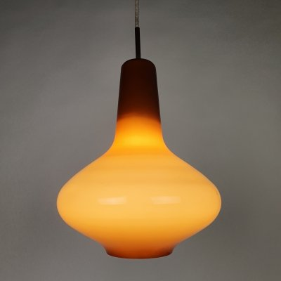 Ochre Glass Pendant by Massimo Vignelli for Venini, 1950s