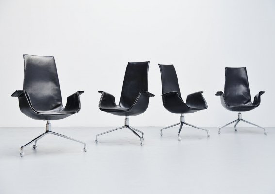 Preben Fabricius & Jorgen Kastholm bird chairs for Kill, 1964