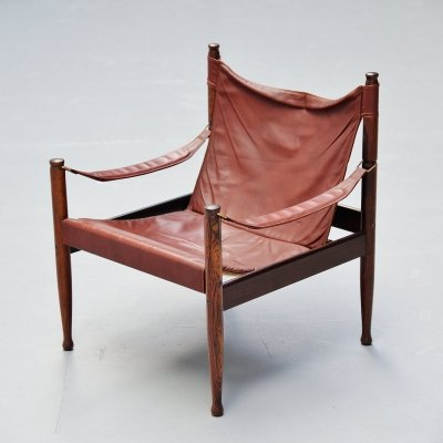 Erik Worts safari chair for Niels Eilersen Denmark, 1960