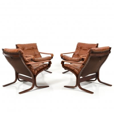 Set of 4 Siesta Lounge Chairs by Ingmar Relling for Westnofa, 1970s