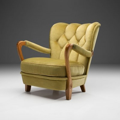 Swedish Modern Armchair, Sweden ca 1940s