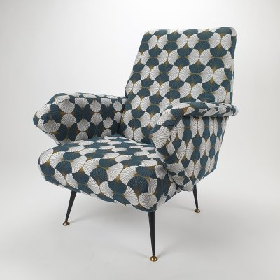 Mid Century Armchair by Gigi Radice for Minotti, 1950s
