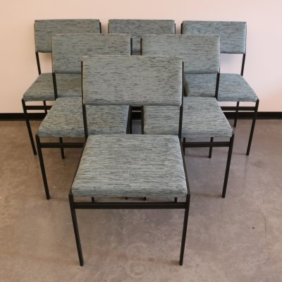 Set of 6 SM07 dining chairs by Cees Braakman for Pastoe, NL 1960's
