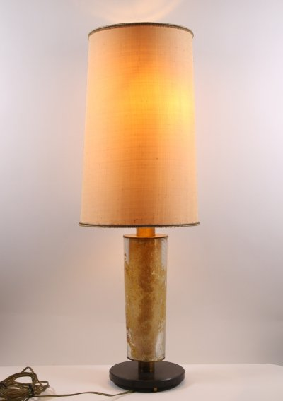 Brutalist table lamp, 1960s