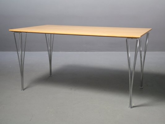 B437 table by Arne Jacobsen, Bruno Mathsson & Piet Hein for Fritz Hansen, 1990s