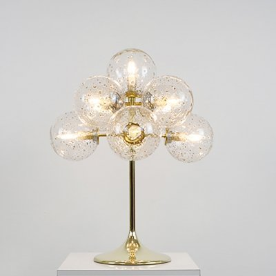 E. R. Nele for Temde Table lamp with Goldflakes, Germany 1960s