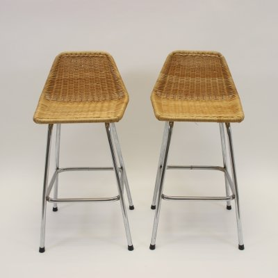 Pair of Vintage bar stools by Rohé Noordwolde, 1960s