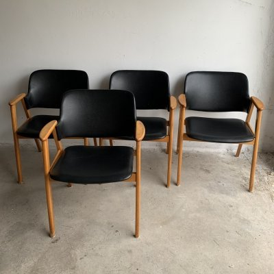 Set of 4 Dining Chairs by Cees Braakman for Pastoe, 1950s