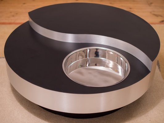 Revolving Yin Yang Coffee Table by Willy Rizzo, 1970s