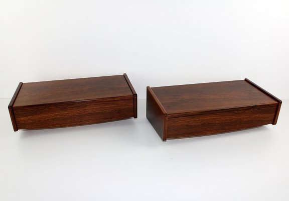 Set of two Rosewood wall units, Denmark 1960s