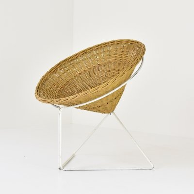 Rattan side chair from The Netherlands, 1960's
