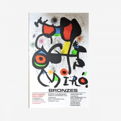 Bronzes Stone Lithograph Poster by Joan Miro, 1960s
