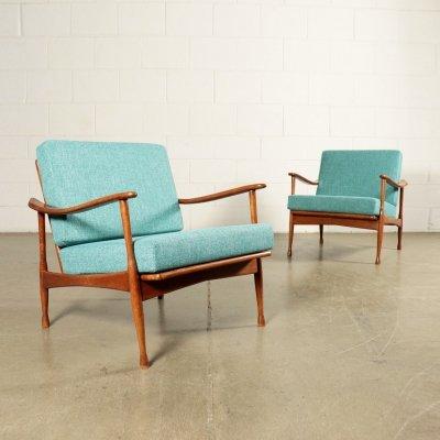 Pair of 1960s Italian Armchairs