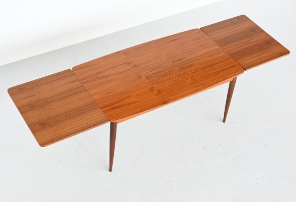 Oswald Vermaercke model Paola teak dining table by V Form, Belgium 1960
