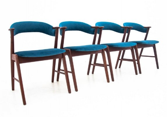 Set of 4 dining chairs by Kai Kristiansen, Danish design 1960s