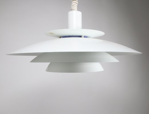 White Danish hanging lamp by Form Light, 1960s