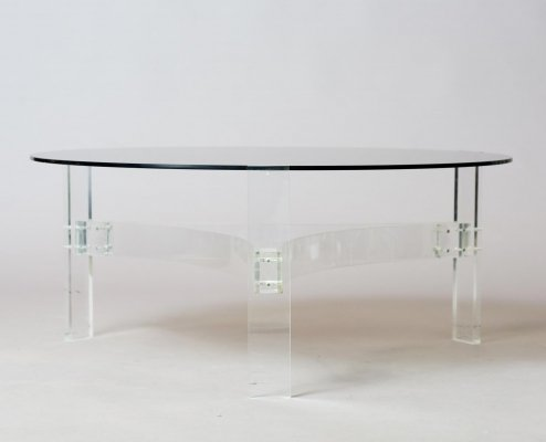 Round Space-Age Coffee Table, 1970's