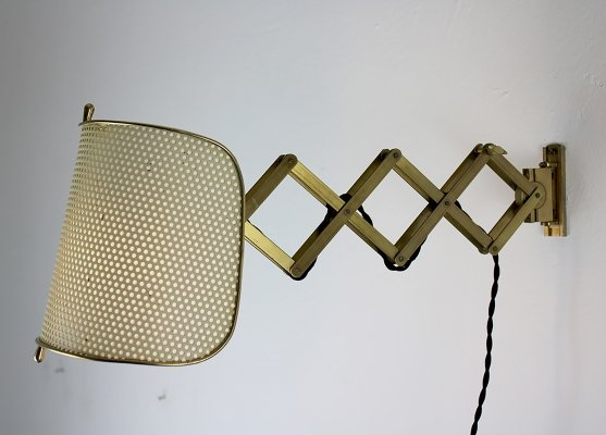 AMBA Basel wall lamp, Switzerland 1950s
